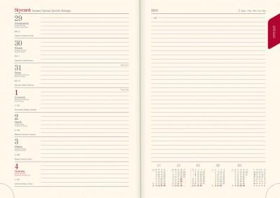 kalendarz Książkowe tygodniowo-notatnikowy